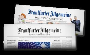 Die Titel der Frankfurter Allgemeinen Sonntagszeitung (F.A.S) und der Frankfurter Allgemeinen (F.A.Z.)